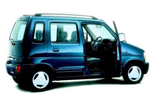 SUZUKI Wagon R+ hatchback niebieski jasny tylny prawy