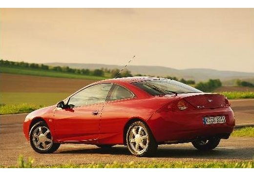 FORD Cougar coupe czerwony jasny tylny lewy