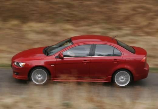 MITSUBISHI Lancer VI sedan czerwony jasny boczny lewy