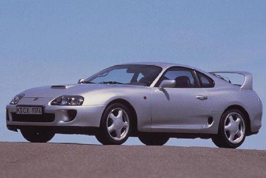Toyota Supra coupe silver grey przedni lewy
