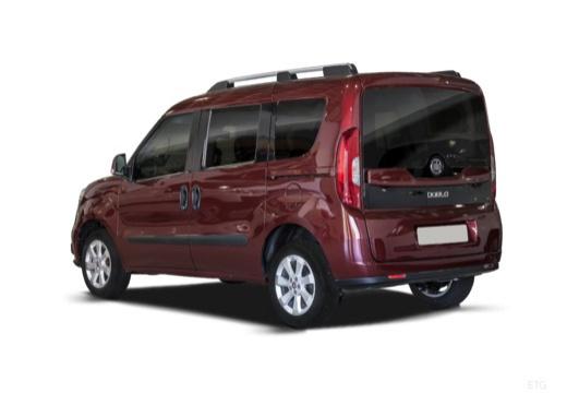 FIAT Doblo kombi bordeaux (czerwony ciemny) tylny lewy
