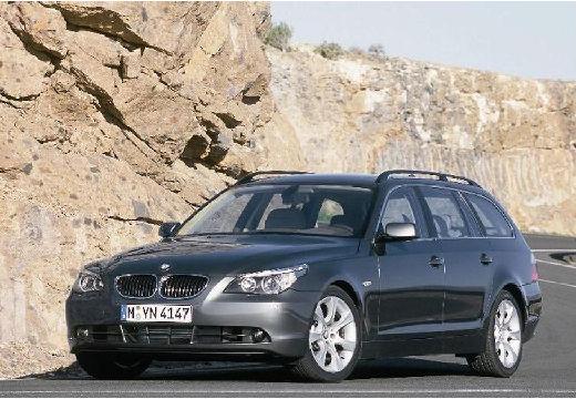 BMW Seria 5 Touring E61 I kombi szary ciemny przedni lewy