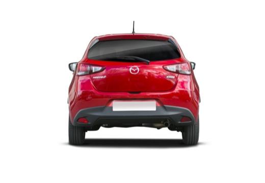 MAZDA 2 hatchback czerwony jasny tylny