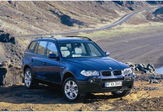BMW X3 X 3 E83 I kombi niebieski jasny przedni prawy
