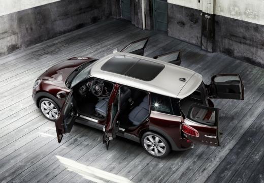 MINI [BMW] Clubman kombi bordeaux (czerwony ciemny) boczny prawy