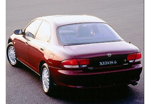 MAZDA Xedos 6 I sedan bordeaux (czerwony ciemny) tylny lewy