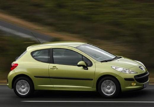 PEUGEOT 207 I hatchback zielony jasny przedni prawy