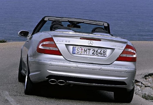 MERCEDES-BENZ Klasa CLK CLK Cabriolet A 209 II kabriolet silver grey tylny lewy