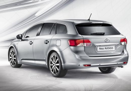 Toyota Avensis kombi silver grey tylny lewy