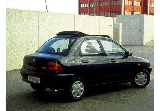 MAZDA 121 sedan czarny tylny prawy