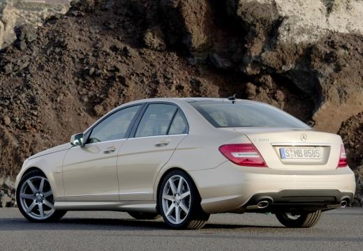 MERCEDES-BENZ Klasa C W 204 II sedan silver grey tylny lewy