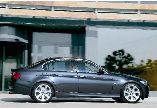 BMW Seria 3 E90 I sedan szary ciemny boczny prawy
