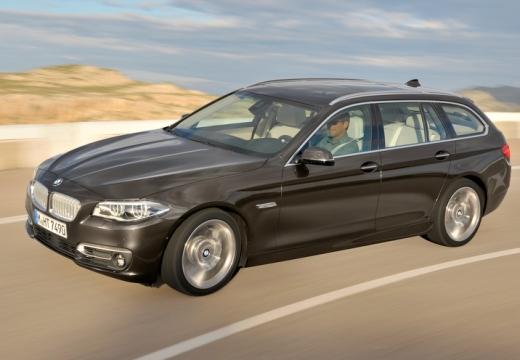 BMW Seria 5 kombi brązowy przedni lewy