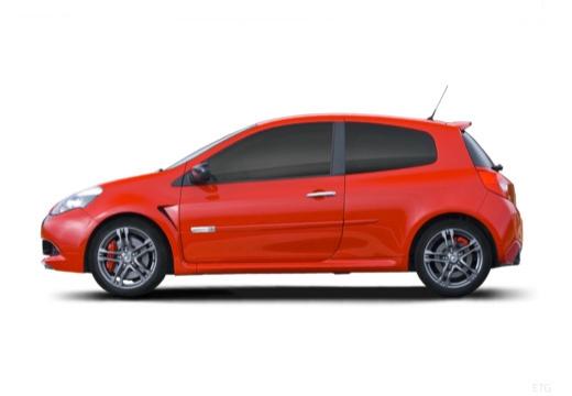 RENAULT Clio III II hatchback czerwony jasny boczny lewy