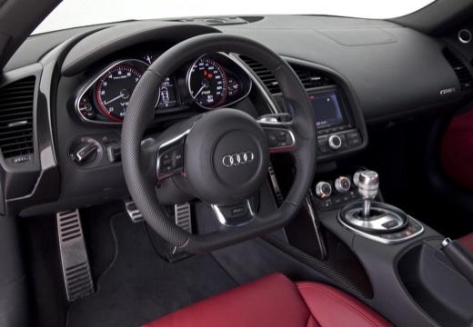 AUDI R8 Spyder I roadster biały tablica rozdzielcza