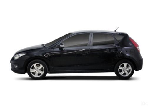 HYUNDAI i30 II hatchback czarny boczny lewy