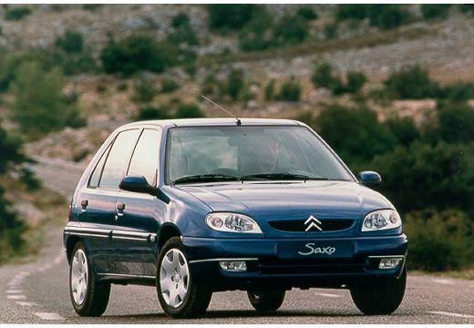 CITROEN Saxo II hatchback niebieski jasny przedni prawy
