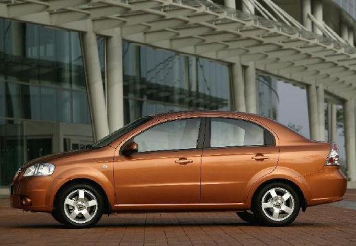CHEVROLET Aveo II sedan pomarańczowy boczny lewy