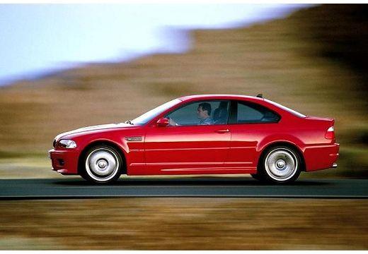 BMW Seria 3 coupe czerwony jasny boczny lewy