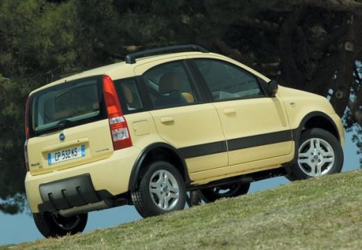 FIAT Panda II hatchback żółty tylny prawy