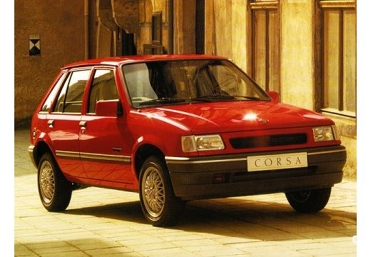 OPEL Corsa A hatchback czerwony jasny przedni prawy