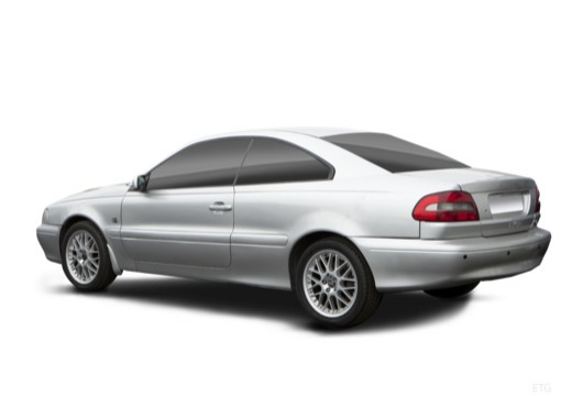 VOLVO C70 coupe silver grey tylny lewy