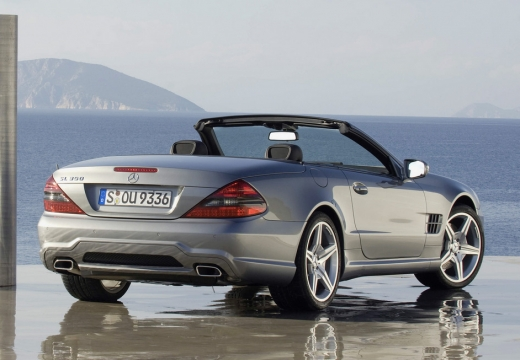 MERCEDES-BENZ Klasa SL roadster silver grey tylny prawy