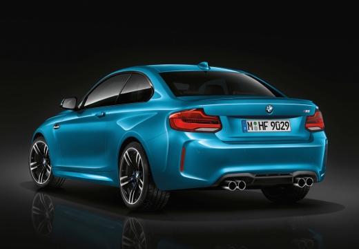 BMW Seria 2 coupe niebieski jasny tylny lewy