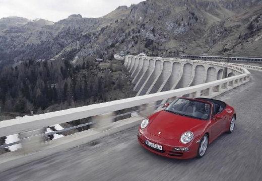 PORSCHE 911 Cabrio 997 kabriolet bordeaux (czerwony ciemny) przedni lewy