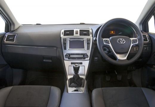 Toyota Avensis VI sedan silver grey tablica rozdzielcza