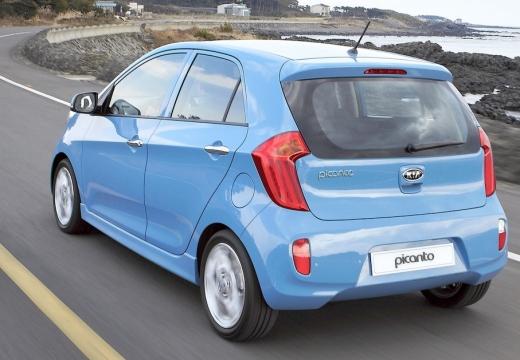 KIA Picanto III hatchback niebieski jasny tylny lewy