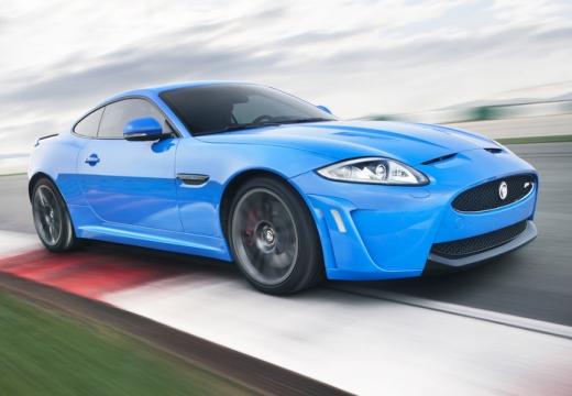 JAGUAR XK II coupe niebieski jasny przedni prawy