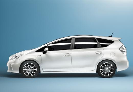 Toyota Prius kombi biały boczny lewy