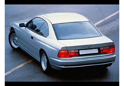 BMW Seria 8 coupe silver grey tylny lewy