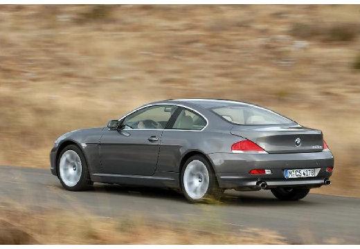BMW Seria 6 E63 I coupe szary ciemny tylny lewy