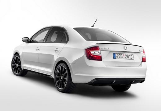 SKODA Rapid Liftback hatchback biały tylny lewy