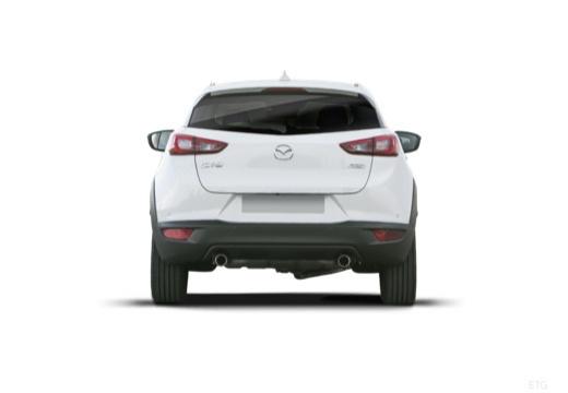 MAZDA CX-3 hatchback biały tylny