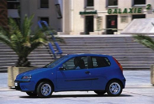 FIAT Punto II I hatchback niebieski jasny przedni lewy