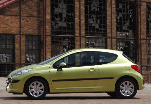 PEUGEOT 207 I hatchback zielony boczny prawy