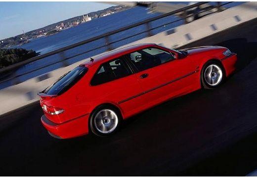 SAAB 9-3 I hatchback czerwony jasny boczny prawy