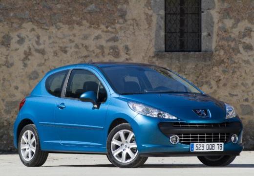 PEUGEOT 207 I hatchback niebieski jasny przedni prawy