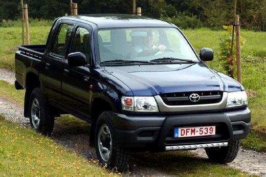 Toyota HiLux II pickup niebieski jasny przedni prawy