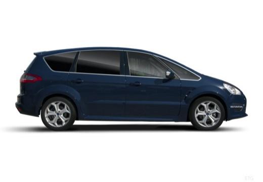 FORD S-MAX II van niebieski jasny boczny prawy