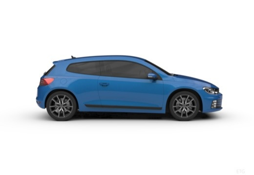 VOLKSWAGEN Scirocco coupe boczny prawy