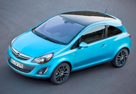 OPEL Corsa D II hatchback niebieski jasny przedni lewy