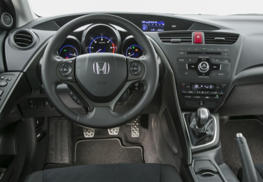 HONDA Civic VIII hatchback czerwony jasny tablica rozdzielcza