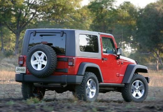 JEEP Wrangler IV soft top czerwony jasny tylny prawy