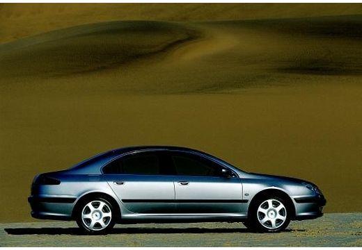 PEUGEOT 607 I sedan silver grey boczny prawy