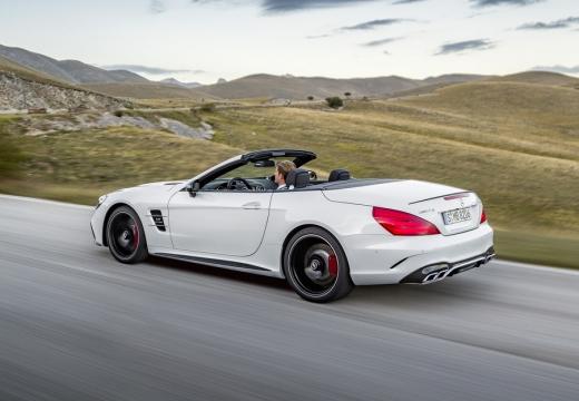 MERCEDES-BENZ Klasa SL roadster biały tylny lewy