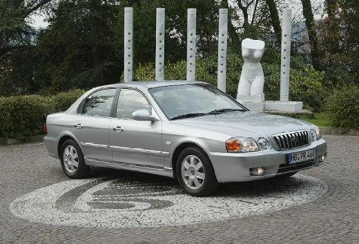 KIA Magentis II sedan silver grey przedni prawy